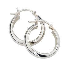 20mm Half Hoop Earrings in Sterling Silver