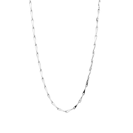 """45cm (18"""") Infinity Chain in 10kt White Gold"""