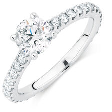 Sir Michael Hill Designer GrandAria Engagement Ring with 1.71 Carat TW of Diamonds in 14kt White Gold