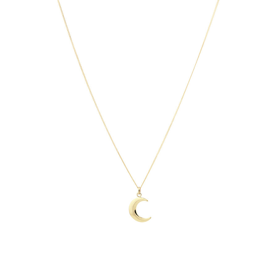 Moon Pendant in 10kt Yellow Gold