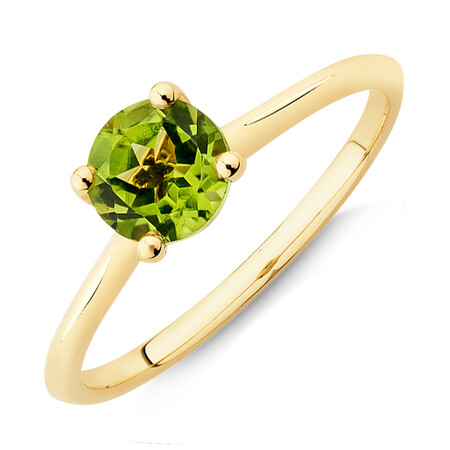 Peridot Ring in 10kt Yellow Gold