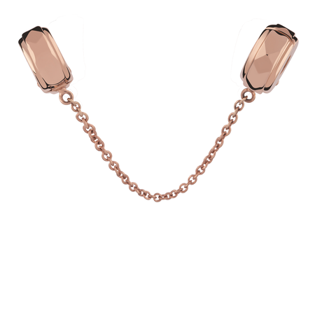 10kt Rose Gold Safety Chain