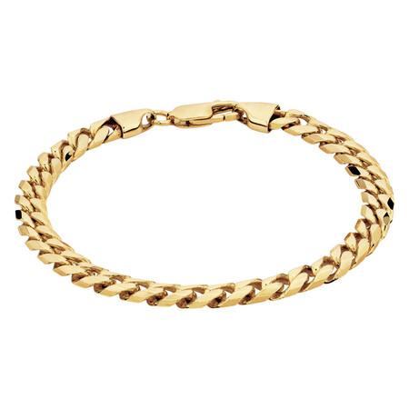 Men's Curb Bracelet in 10kt Yellow Gold
