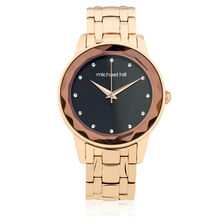 Ladies Stone Set Watch in Rose Tone Stainless Steel