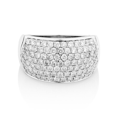 Ring with 1.5 Carat TW of Diamonds in 10kt White Gold