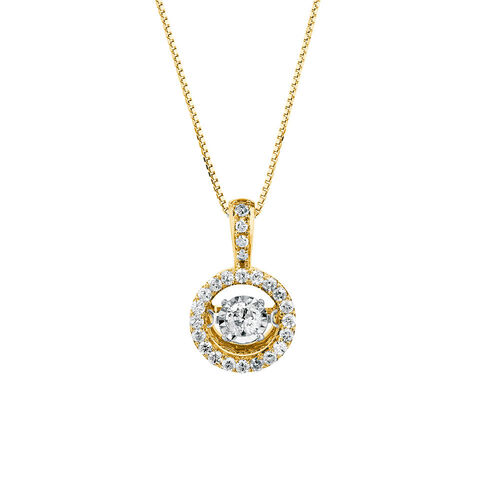 Everlight Pendant with 0.33 Carat TW of Diamonds in 10kt Yellow Gold