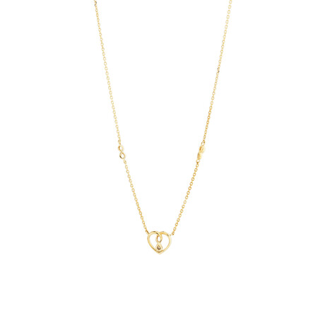 Mini Infinitas Pendant with Diamonds in 10kt Yellow Gold