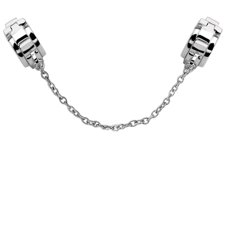 Sterling Silver Patterned Safety Chain