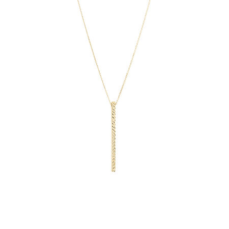 Vertical Bar Necklace in 10kt Yellow Gold