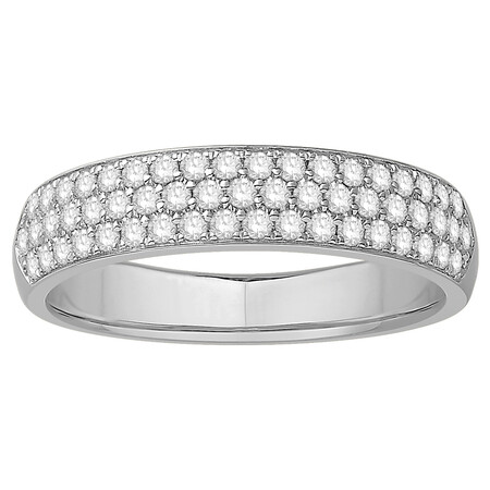 Multi Row Wedding Ring with 1/2 Carat TW of Diamonds in 14kt White Gold