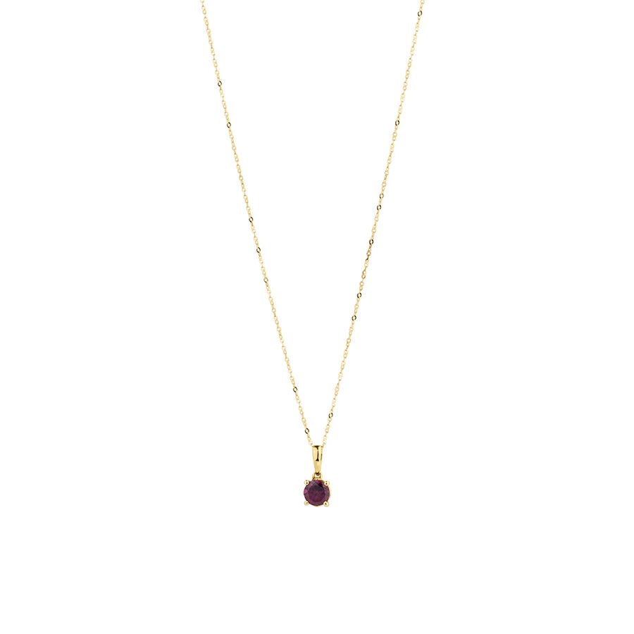 Pendant with Rhodolite Garnet in 10kt Yellow Gold