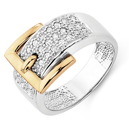 Ring with 0.33 Carat TW of Diamonds in 10kt Yellow & White Gold