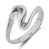 Southern Star Ring with 3/8 Carat TW of Diamonds in 18kt White Gold
