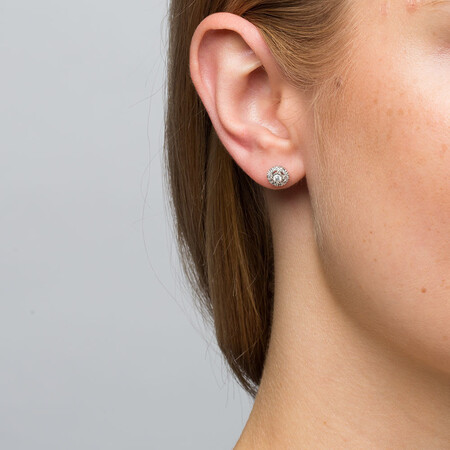 Stud Earrings with 1/4 Carat TW of Diamonds in 10kt White Gold