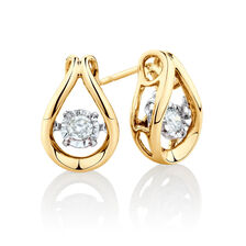 Everlight Stud Earrings with 0.16 Carat TW of Diamonds in 10kt Yellow Gold
