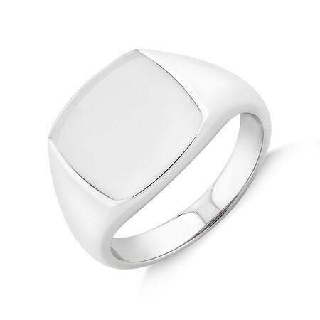 Men'S Signet Ring In Sterling Silver