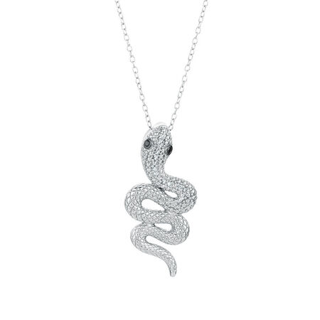City Lights Pendant with Enhanced Black Diamonds in Sterling Silver