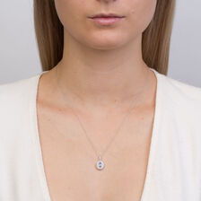 Michael Hill Designer Fashion Pendant with Tanzanite & 0.20 Carat TW of Diamonds in 10kt White Gold