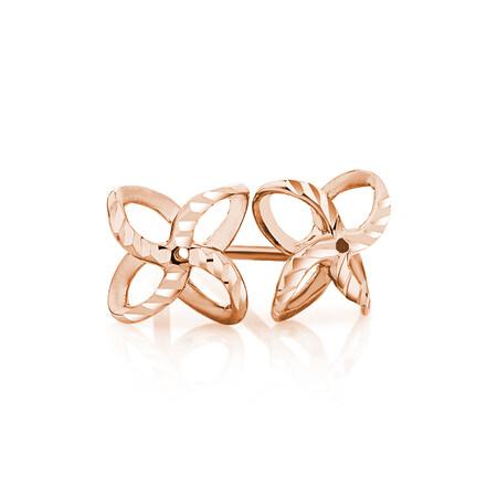 Petal Stud Earrings in 10kt Rose Gold