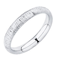 Patterned Ring in 10kt White Gold