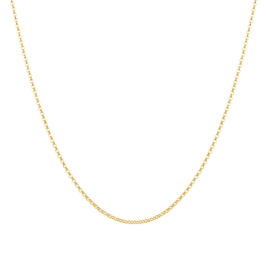 "60cm (24"") Hollow Rolo Chain in 10kt Yellow Gold"