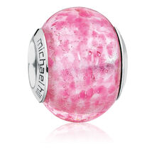 Dark Pink Murano Glass Charm