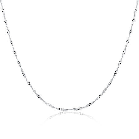 """50cm (20"""") Singapore Twist Chain in Sterling Silver"""