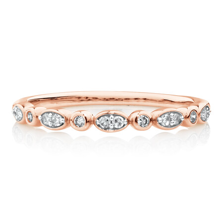 Evermore Wedding Band with Diamonds in 10kt Rose Gold