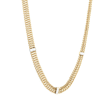 Fancy Italian Chain in 10kt Yellow & White Gold