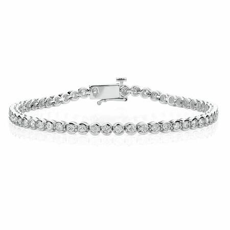 Tennis Bracelet with 2 Carat TW of Diamonds in 14kt White Gold