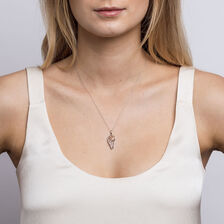 Infinitas Pendant with Diamonds in 10kt Rose Gold & Sterling Silver