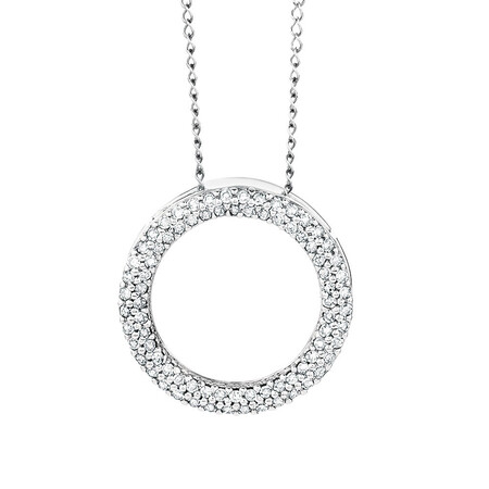 Pendant with 1/4 Carat TW of Diamonds in 10kt White Gold