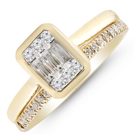 Bridal Set with 0.40 Carat TW of Diamonds in 10kt Yellow Gold