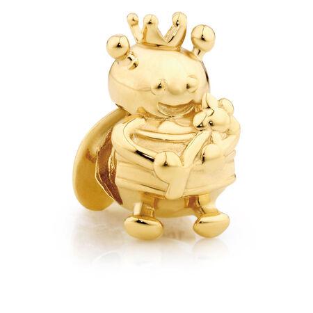 10kt Yellow Gold Queen Bee Charm