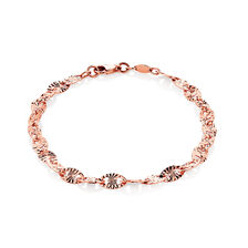 "19cm (7.5"") Patterned Bracelet in 10kt Rose Gold"