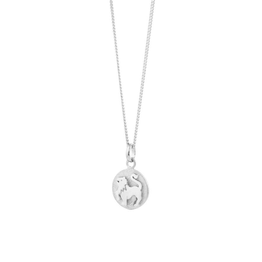 Leo Zodiac Pendant in Sterling Silver