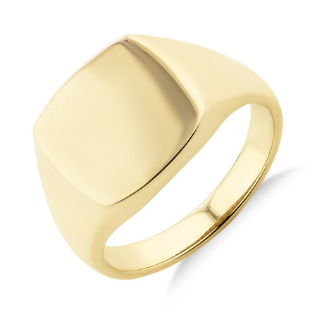 Men's Signet Ring in 10kt Yellow Gold