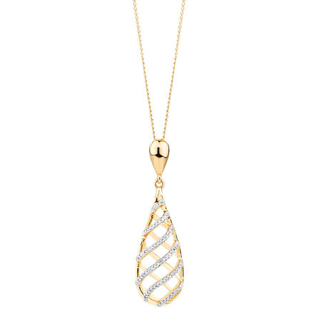 Pendant with 0.17 Carat TW of Diamonds in 10kt Yellow Gold