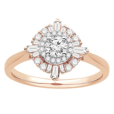 Ring with 0.60 Carat TW of Diamonds in 10kt Rose Gold