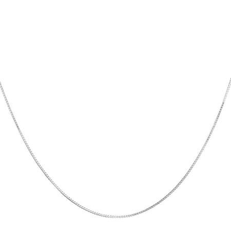 "40cm (16"") Diamond Cut Box Chain in 14kt White Gold"