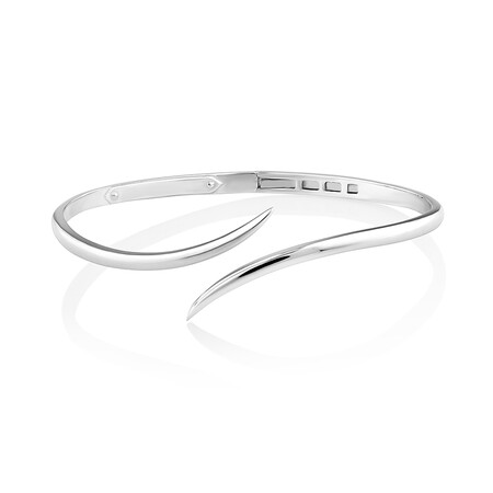 Sculpture Bypass Bangle In Sterling Silver