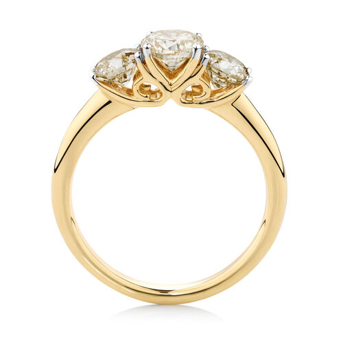 Engagement Ring with 1.63 Carat TW of Diamonds in 14kt Yellow Gold
