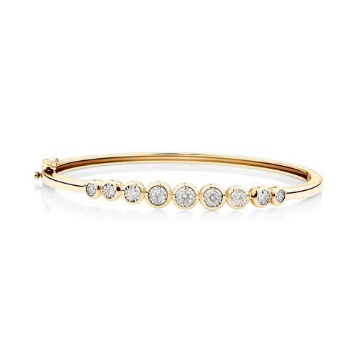 Bangle with 0.50 Carat TW of Diamonds in 10kt Yellow Gold