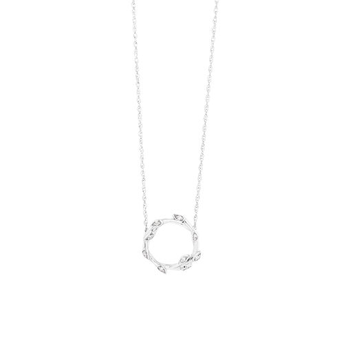 Willow Necklace With Diamonds In Sterling Silver