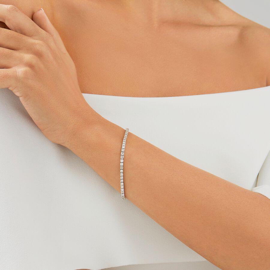 Tennis Bracelet with 4 Carat TW of Diamonds in 10kt White Gold
