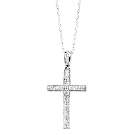 Pendant with 1/4 Carat TW of Diamonds in Sterling Silver