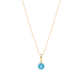 Pendant with Blue Topaz in 10kt Yellow Gold