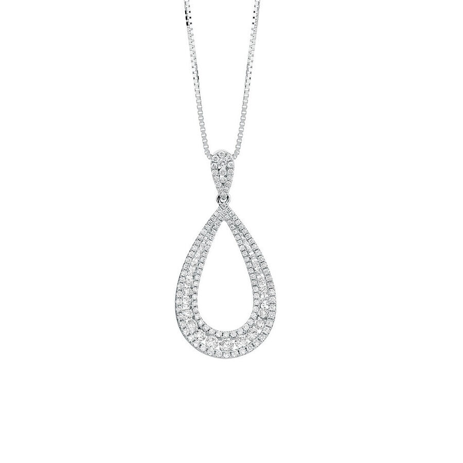 Pendant with 1 Carat TW of Diamonds in 14kt White Gold