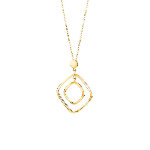 Geometric Drop Necklace in 10kt Yellow Gold