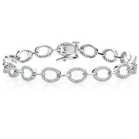 Online Exclusive - Tennis Bracelet with 3/4 Carat TW of Diamonds in 10kt White Gold